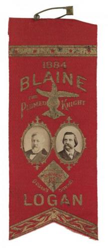 A campaign ribbon for James G. Blaine