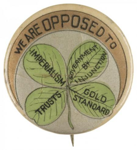 Campaign button for William Jennings Bryan