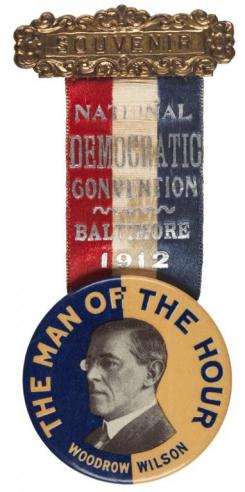 A ribbon badge from the Democratic National Convention in Baltimore
