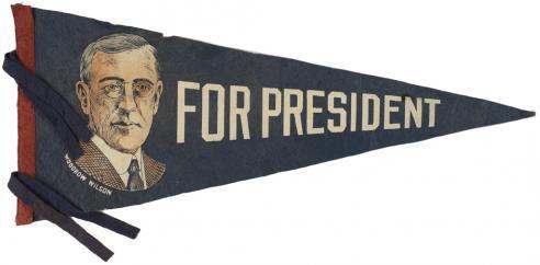 A Woodrow Wilson pennant