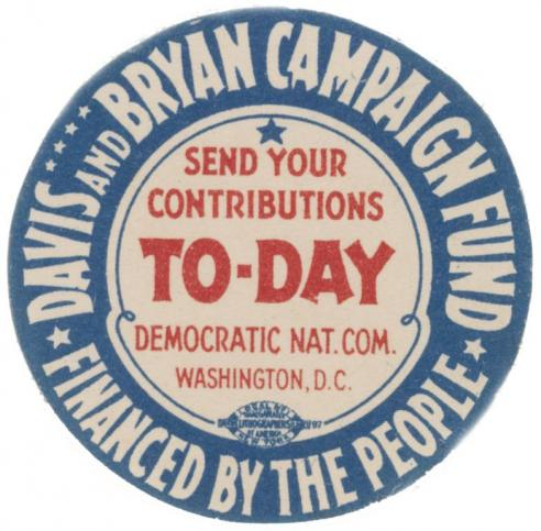 A button for candidate John W. Davis