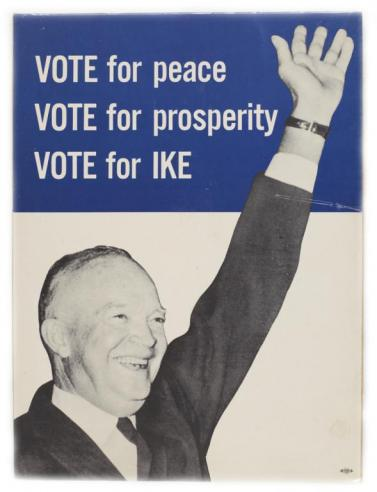 An Eisenhower campaign poster