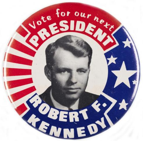 A campaign button for Robert F. Kennedy