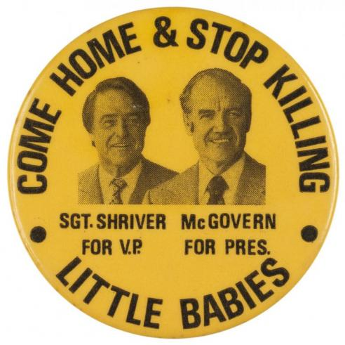 A campaign button for George McGovern