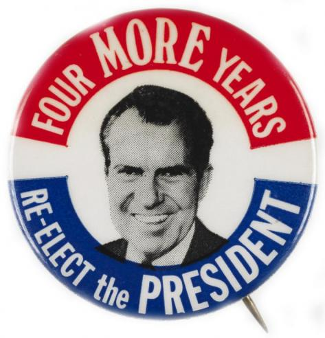 A campaign button for Richard Nixon