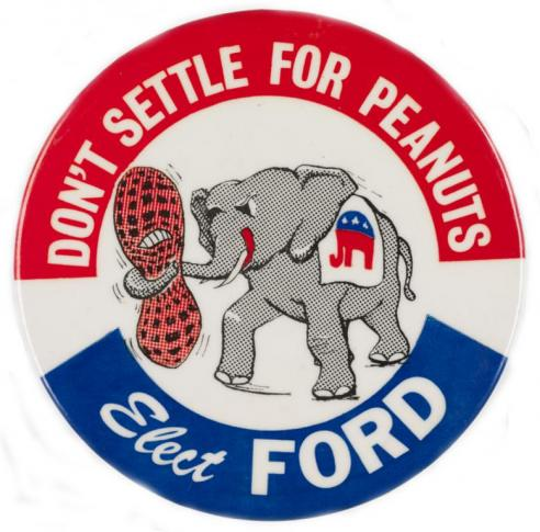A campaign button for Gerald Ford