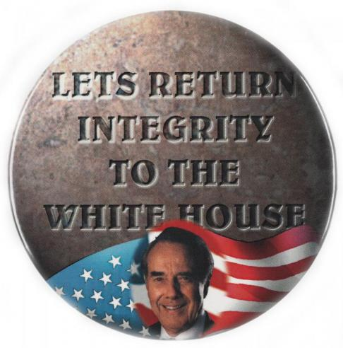 A campaign button for Robert Dole