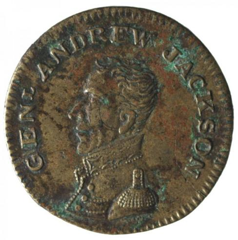 Andrew Jackson campaign token