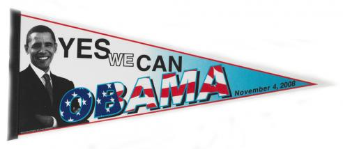 A pennant from the Barack Obama campaign