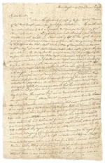 John Chilton letter, page one
