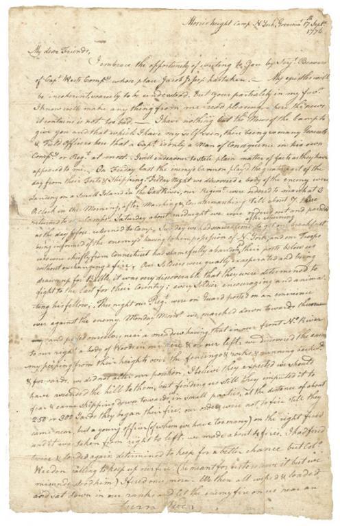 Capt. John Chilton to Martin Pickett, September 17, 1776