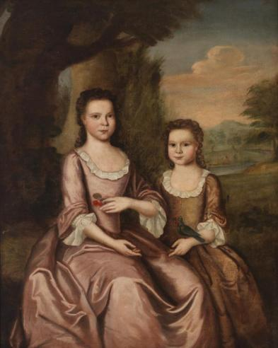 Ann and Sarah Gordon by John Hesselius, c. 1750 or 1751
