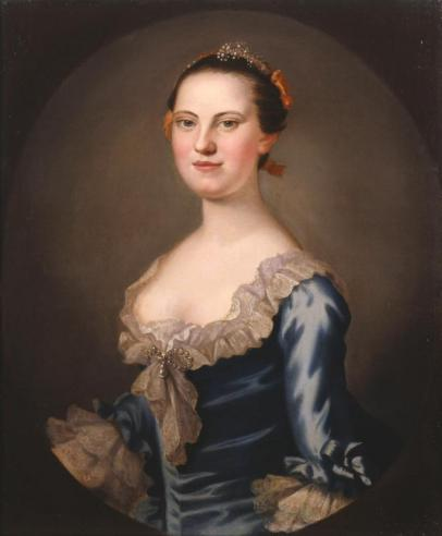Mary Willing Byrd, 1758, by John Wollaston