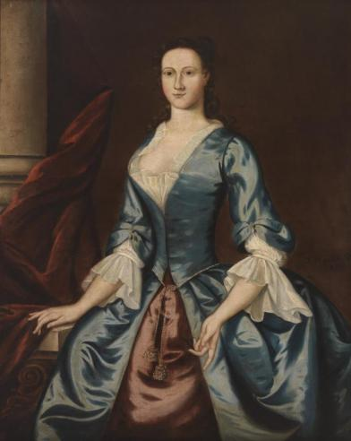 Millicent Conway Gordon, 1750, by John Hesselius