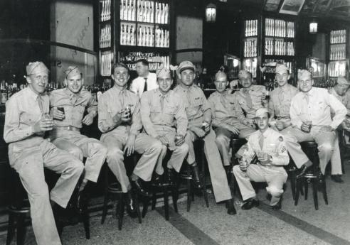 Harold Leazer with his crew in 1944