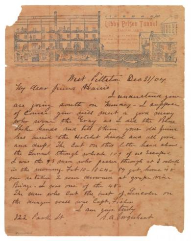 Letter of Samuel A. Urquhart to [?] Harris, December 31, 1904.
