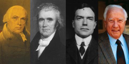 James Madison, John Marshall, John D. Rockefeller, Jr., and David McCullough
