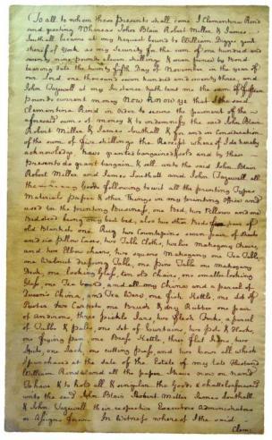 Deed, 1774 April 13, to John Blair, Robert Miller, James Southall, and John Tazewell