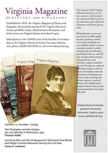 Virginia Magazine sample advertisement
