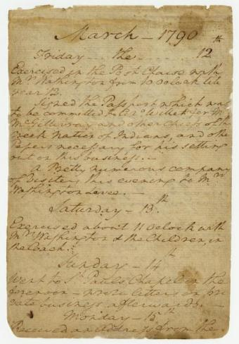 George Washington's Diary