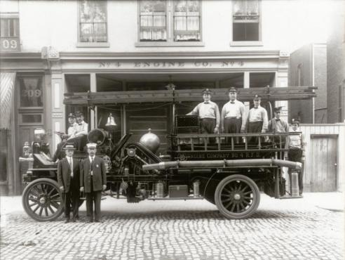Engine Company #4, Richmond, 1911 (VHS accession number: 1991.1.21240)
