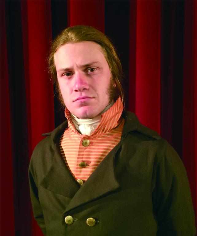 Eben Kuhns of The American Historical Theatre portraying Alexander Hamilton