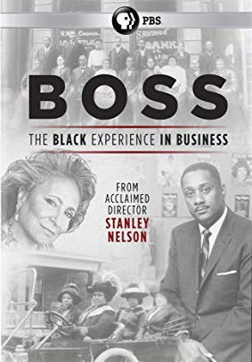 """Collage of historic black and white photos of business owners with the PBS logo and text reading, """"Boss: The Black Experience in Business"""""""