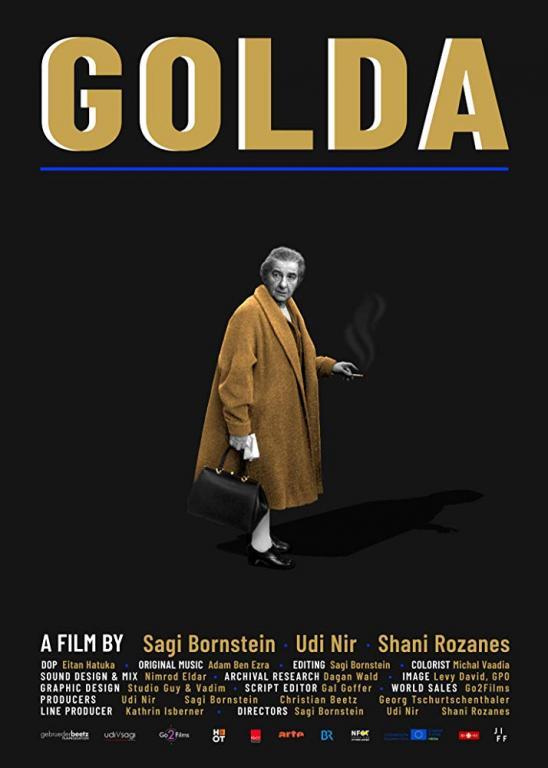 Film poster for the documentary, Golda.