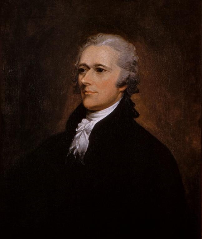 Alexander Hamilton by John Trumbull, about 1805. Courtesy of The White House, Washington, District of Columbia.