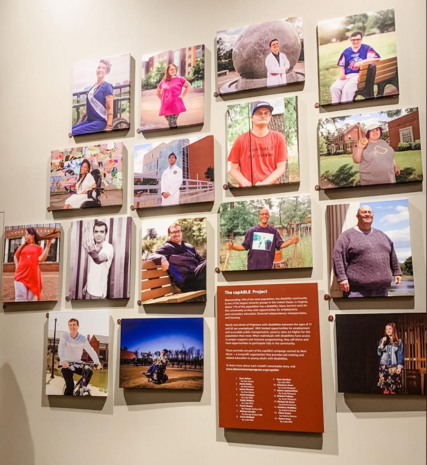 A collection of color portraits of people from Richmond's disability community.